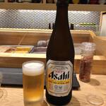 鮨 航 - 味変に瓶ビール^^