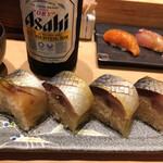 鮨 航 - なかなか見事な鯖棒寿司^^ハーフでお願い♬