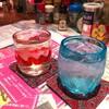 餃子と沖縄 - ドリンク写真:泡盛2種 琉球グラスで