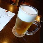 ジャズ喫茶ちぐさ - 【H24.6.14】生ビール500円。綺麗な泡です♪