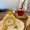 Ryu-my Cafe - 料理写真:宮古産マンゴーを使った無農薬米粉のマンゴーロールケーキ