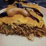 お好み焼き・玉子焼き きょう屋 - イカのオムそば 細麺が美味しい!