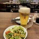 Aoyamashanwei - ビール&ランチセットのサラダ