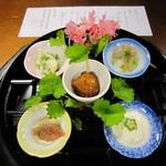 花敷の湯 - 料理写真:前菜