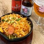 ベルギービール カフェ ベル・オーブ - 鉄板焼きナポリタン(1,100円)