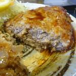 豚菜 - ハーフハンバーグ定食