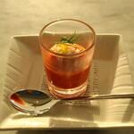134355364 - 地元農家の完熟トマトと蟹のサラダ