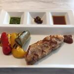 134355409 - 豚ロース肉と近江夏野菜のグリル