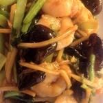 海鮮 食樂部 - えびとキクラゲの玉子炒