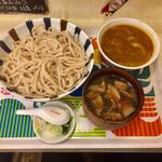 武蔵野 伝統の味 涼太郎 - ダブルつけめん(肉汁+ミニカレー汁)