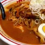 蒙古タンメン中本 - 料理写真:五目味噌タンメンスープアップ