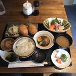 旬菜 青山 - Aランチ(税込み1500円)
