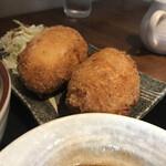 旬菜 青山 - メインのカニクリームコロッケ