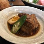 旬菜 青山 - 豚の角煮は絶品