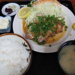 食事処うずめ - ロース網焼き定食(1,200円)