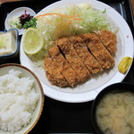 食事処うずめ - リブロース定食(1,200円)