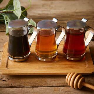 バルサミコ・フランボワーズ・パイナップルの3色蜂蜜をご用意!