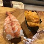 やよい寿司 - エビと雲丹