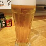 めちゃうまホルモン焼太郎 - 生ビール 400円