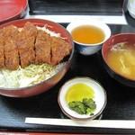 柏屋食堂 - 上名代ソースカツ丼(ご飯大盛り)