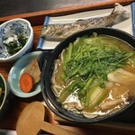 134414072 - 山の芋鍋定食A<岩魚付>