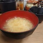 134422096 - すたみな唐揚げ定食(味噌汁)