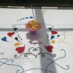 お好み焼きとかき氷の店 590 - 屋外テーブルでの台湾かき氷