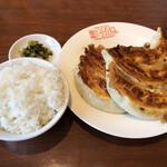 銀座 天龍 - 餃子ライスセット(970円)