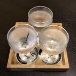 みやまダイニング畔 - 日本酒飲み比べセット 1500円