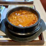 白釜飯 純豆腐火鍋 まん馬 - ラーメンスンドゥブ定食