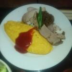 洋食家ロンシャン - 料理写真:ポークソテーとオムレツ