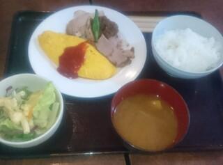 洋食家ロンシャン - 日替りランチ ポークソテーとオムレツ