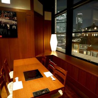 生まれ変わった東京駅を見下ろして…