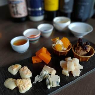 フランス産最高級チーズと日本酒のマリアージュが絶妙