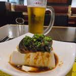 Chinkenichimaabodoufuten - ♦︎生ビールキリン ¥670×2杯             (一番搾りプレミアム)             ♦︎ピータン豆腐 ¥670             (さっぱり生姜ソースで)