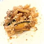 134448199 - カサレッチェ、真イワシと米茄子のカポナータソース、アーモンドパン粉