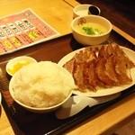 大阪王将 - 餃子とライスセット