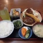 和韓食処はやしや - ハンバーグ定食¥720