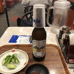 餃子の王将 - きゅうり味噌と大瓶