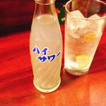 加賀屋 - レモンサワー。これからは加賀屋ではこれにする。ウマイ