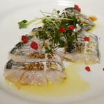 イタリア食堂 DecoBocco - 豊洲より 鮮魚(タチウオ)のカルパッチョ