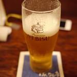 はんなり亭 - 2012/6 エビスビール中