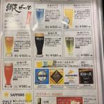 134474113 - ビールのメニュー