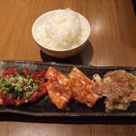 明石焼肉 MORISHIN - お肉とごはん(大)