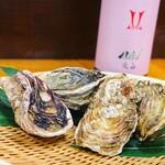 原始焼・二代目・魚々子 - 岩牡蠣 真牡蠣