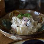 お野菜小皿料理のワインバル KiboKo - ポテサラ風?ソイマヨネーズかな?
