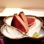 和食とお酒 きいろ - 【トロサバ塩焼 定食@1,200円】鰹たたき