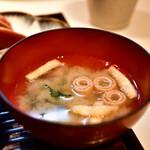 和食とお酒 きいろ - 【トロサバ塩焼 定食@1,200円】味噌汁