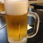 そば処 あおき - 生ビール