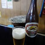 一升びん - やはり口開けはラガービールであるべき(580円)